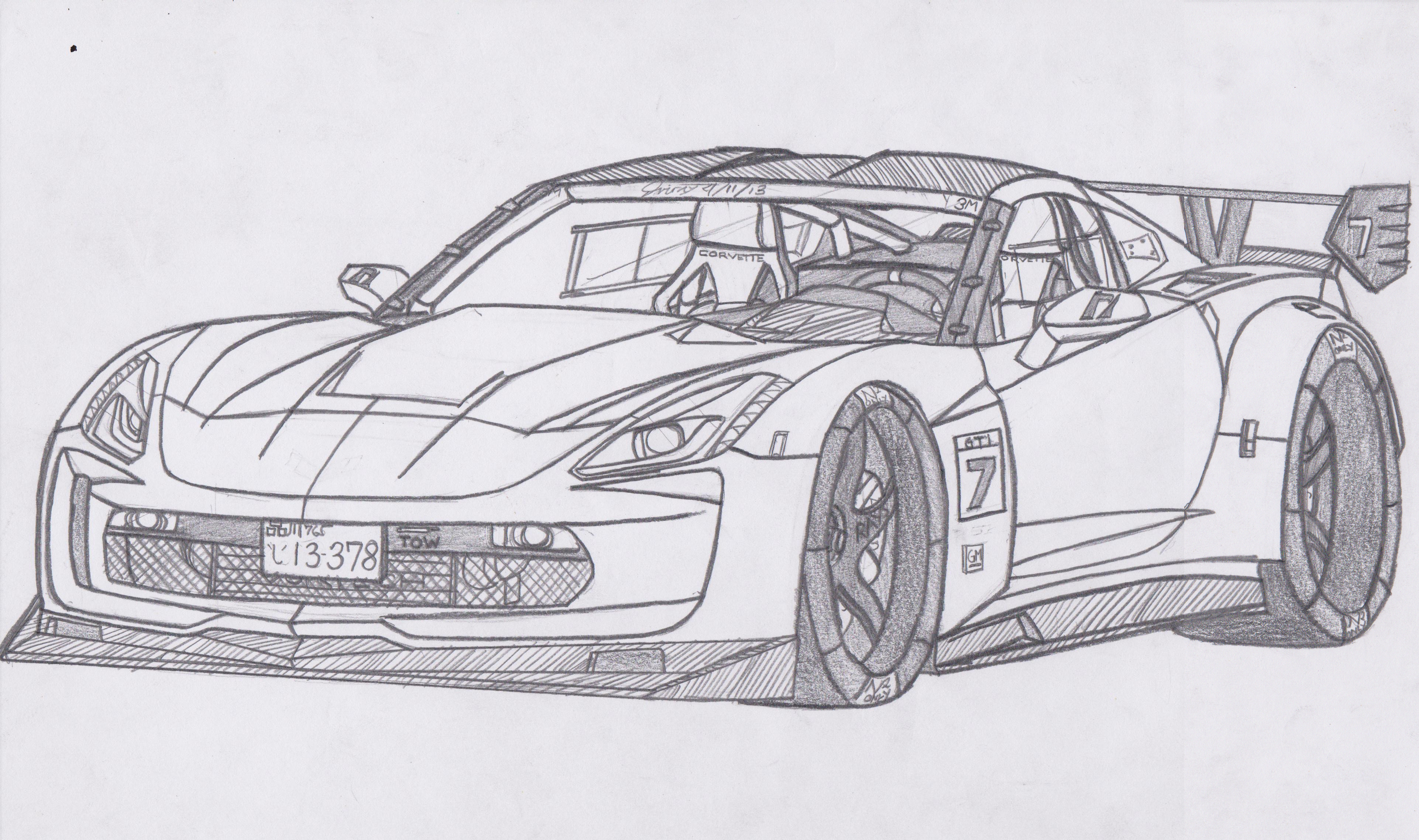Chevy corvette coloring pages cars automobiles pictures for Corvette car coloring pages