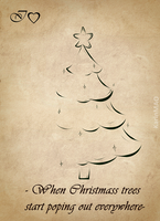IHeart Christmas trees by KarinMao