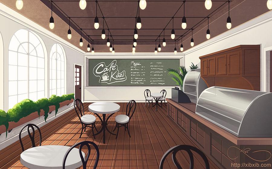 Cafe Background by XibXib on DeviantArt