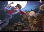 Commission : Warhammer DxD Issei vs Coteaz. by Alex-kellar