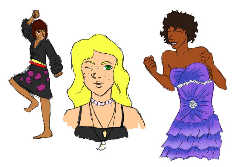 Queens doodles by forgotten-light
