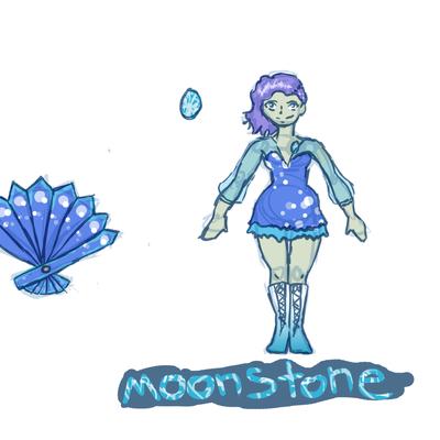 Moonstone Gemsona Commission by forgotten-light