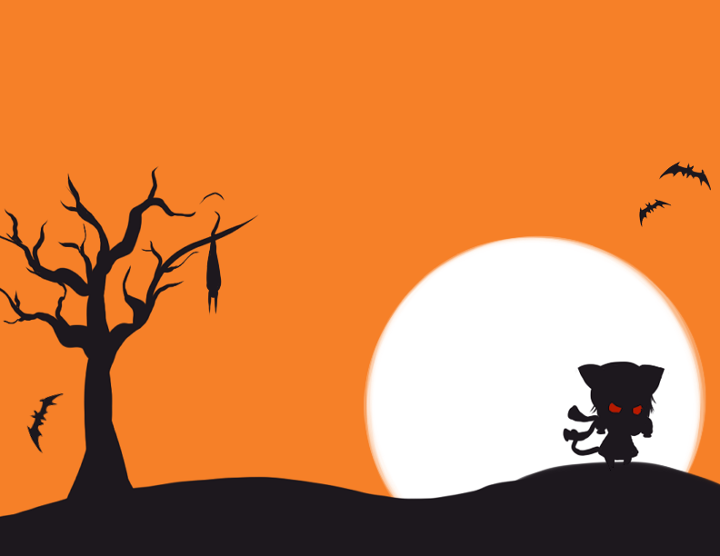 Free Halloween Card Design by kawaii-oekaki-chan on DeviantArt