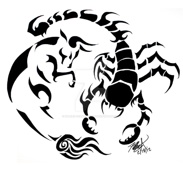 Scorpio Tattoo Designs For Girls