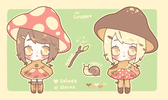 [Adoptable] Mushroom Witch by luupon