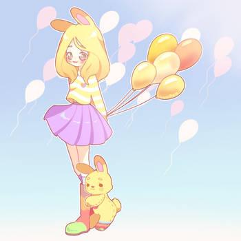 [C] Balloon sky by luupon
