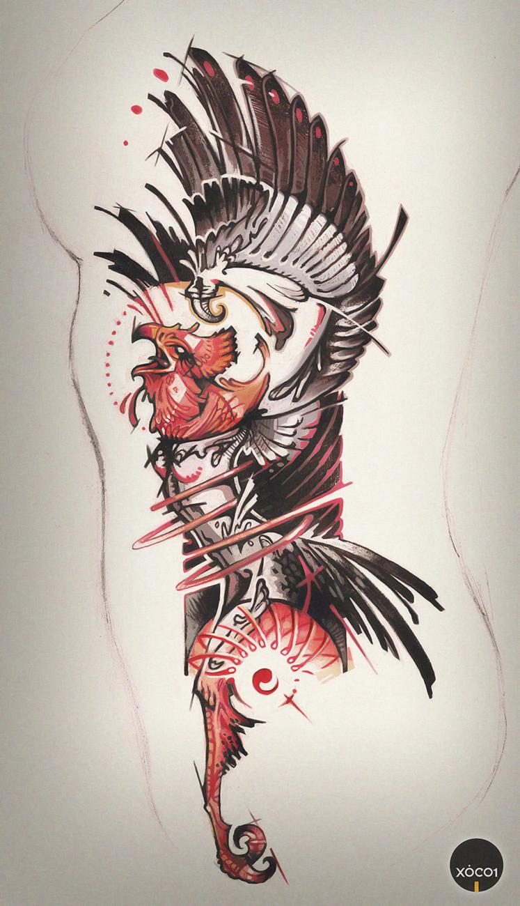 Phoenix tattoo art by xocol4t4 on deviantart for Tattoo artist phoenix az