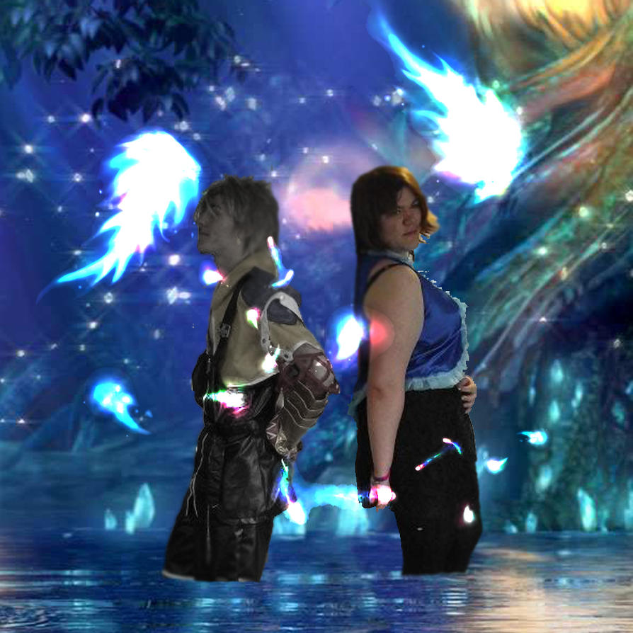 Yuna and Tidus Wallpaper by LadyLionhart on DeviantArt