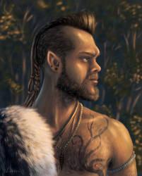 Ronyo Naur - A Wild Elven Arcane Archer by lukaszi-art