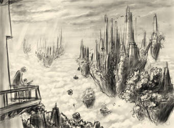Floating cities - Rough concept sketch