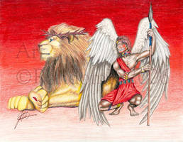 The Angel and The Lion by RandomK