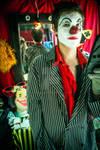 Staring clown