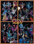Kiss collages