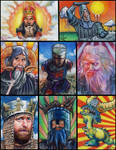 Monty Python Grail sketch card by choffman36