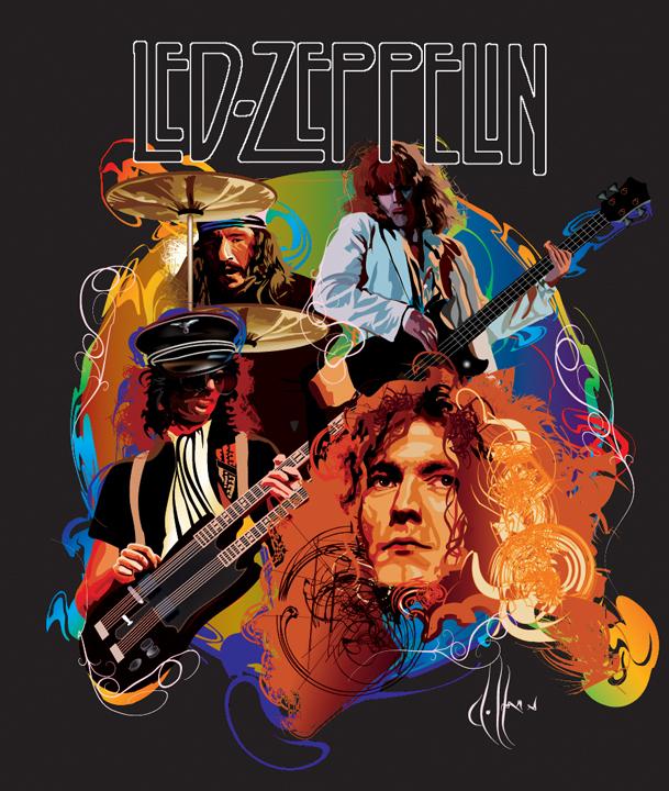 25 Ilustraciones De Led Zeppelin