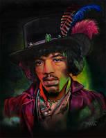 Jimi Hendrix portrait by choffman36