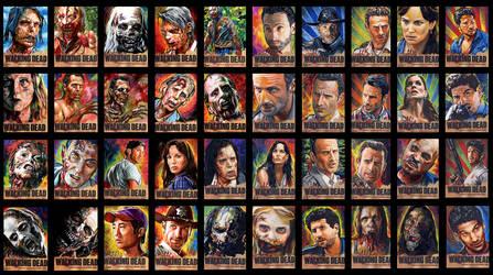 Walking Dead sketch cards