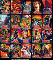 The Walking Dead comic sketch cards by choffman36