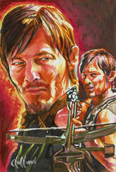 Daryl Dixon PSC card Chris Hoffman