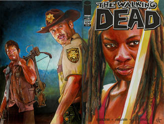 Walking Dead 109 variant sketch cover by choffman36