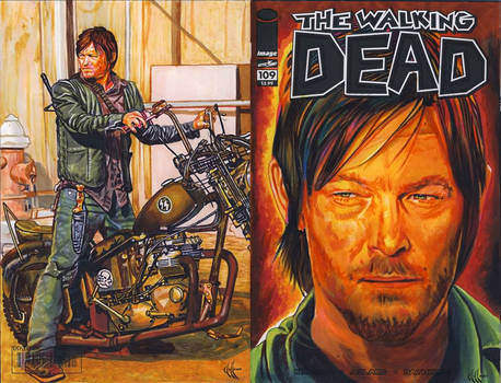 Daryl Dixon Walking Dead variant cover