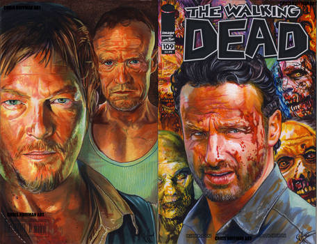 Walking Dead 109 comic cover commission three