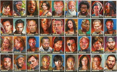 Walking Dead official season three sketch cards