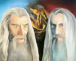 LOTR: The Two Wizards by choffman36