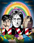 John Lennon vector collage