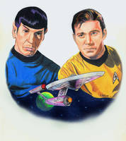 Star Trek Kirk Spock by choffman36