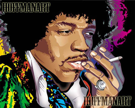 Jimi Hendrix pop vector by choffman36