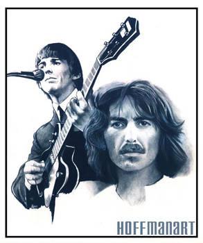 George Harrison charcoal