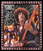 Phil Lynott Thin Lizzy by choffman36