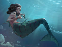 Mermaid by MarkPanchamArt