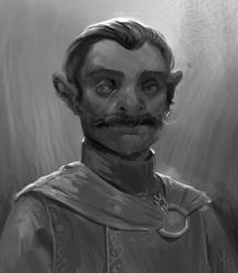 His mustache is up to no good.