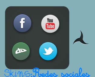 accesos directos [redes sociales] xwidget by tutorialesandrea1110