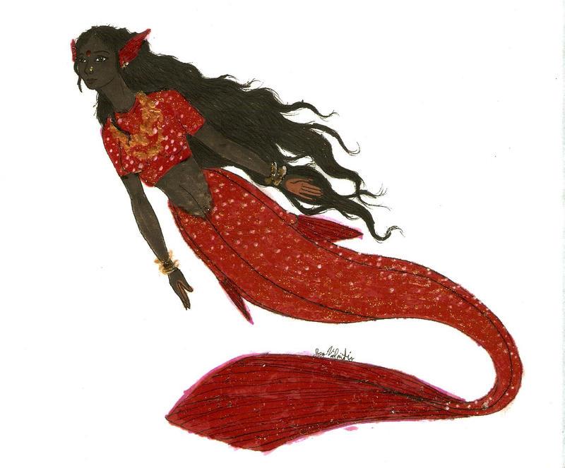 Desi Mermaid by MommaCabbit