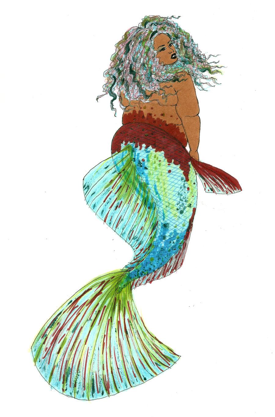 Betta Mermaid by MommaCabbit