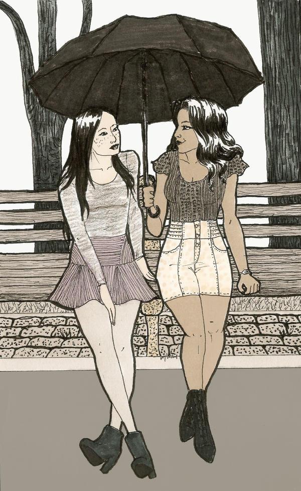 Long Walks In The Rain by MommaCabbit