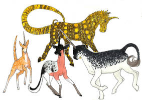 Unicorns by MommaCabbit