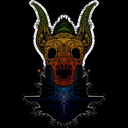Rainbow Demon Sticker by TheScreechingPumpkin