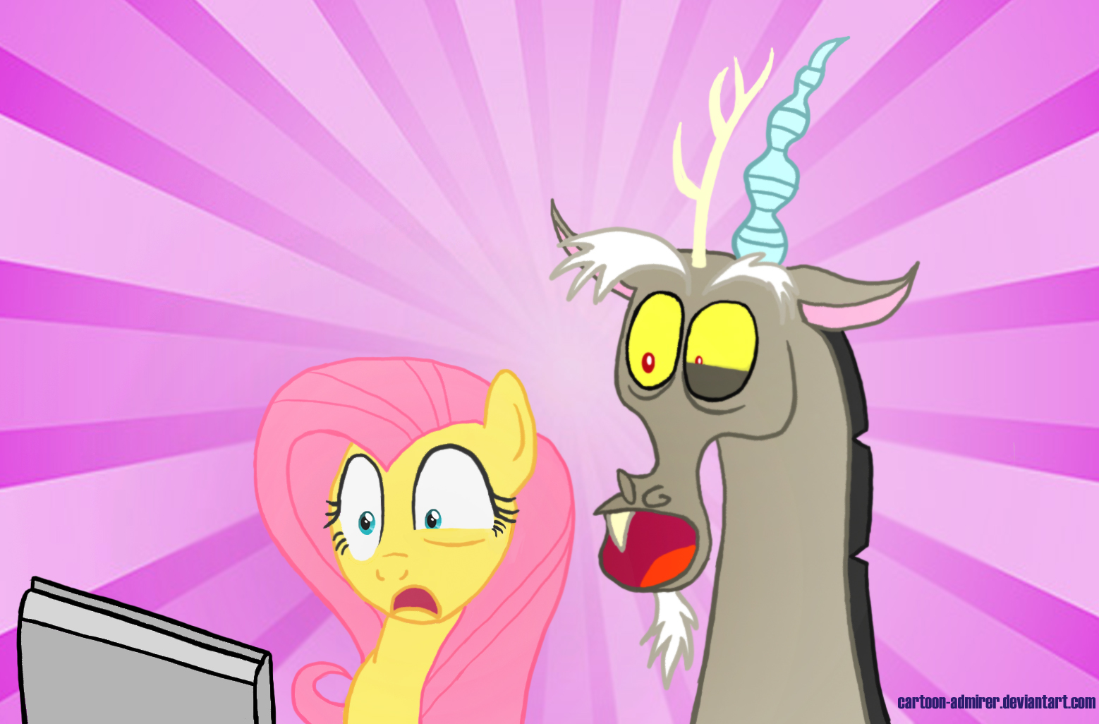 Fluttershy and Discord Discover the Internet by Cartoon ...