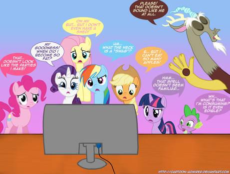 Ponies' Reactions to PONY.MOV