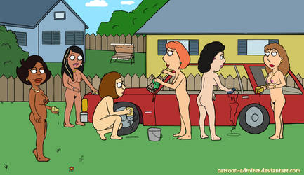 The Family Guy Girls - Car Wash by Cartoon-Admirer