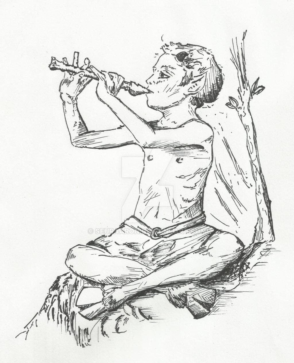 Faun Playing a Pipe