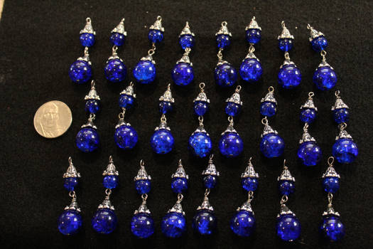 Small Chandelier Crystals in Blue