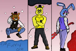The boys of Five Nights of Freddy's 2 by luismendoza15