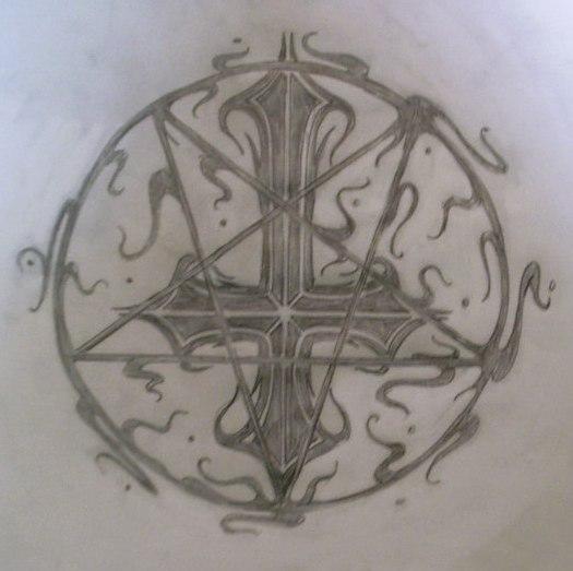 cross and pentagram by spooky6sic6