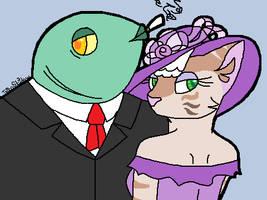 Mister Fish and Miss Cuddley by ThornShadowWolf