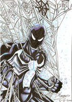 Black suit Spidey Markers by aisu-kaminari